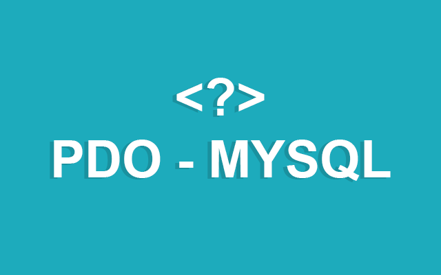 PHP PDO MySQL connect string